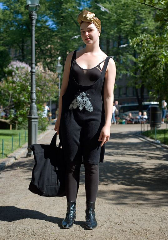 Ivana Helsinki dress on a quirky and stylish girl via the streets of Helsinki #streetstyle