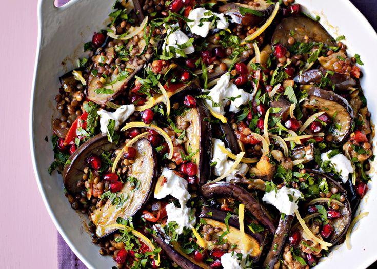 aubergine casserole with pomegranate | #casserole #vegetarian #recipe #foodwise