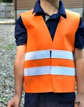 Construction Vest. Halloween Costume. Dressup Play. Felt Vest. Child Vest. Toddler Costume. Construction Worker Costume. Community Helper. - http://evilstyle.com/construction-vest-halloween-costume-dressup-play-felt-vest-child-vest-toddler-costume-construction-worker-costume-community-helper-2