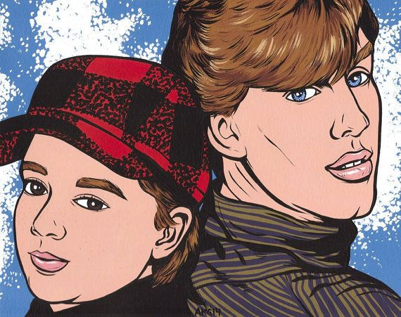 Pete & Pete by turddemon on Etsy (Art & Collectibles, Prints, folk, outsider, funny, portrait, pop, 90s, comic, ginger, nickelodeon, tv show, Danny Tamberelli, Mike Maronna, the adventures of)