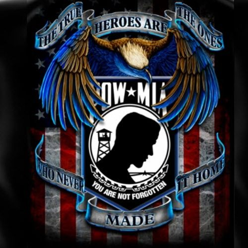 pow+flag+and+eagle | POW MIA American Flag T Shirt ...