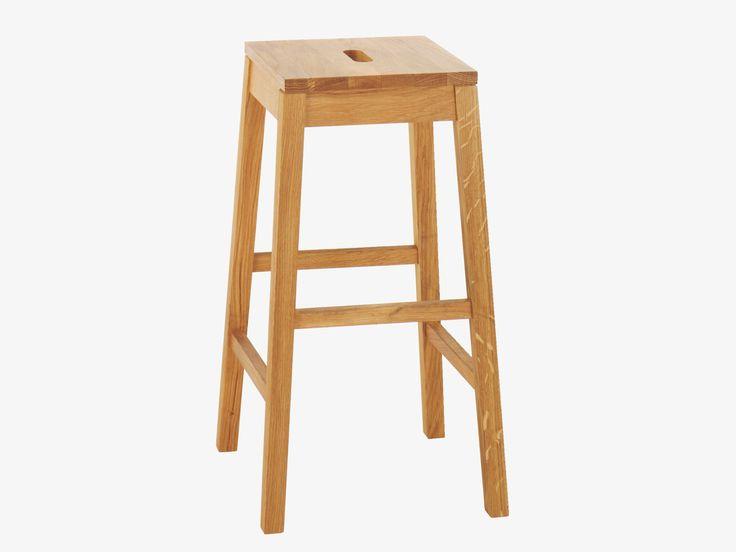 TATO NATURAL Wood Oak bar stool - HabitatUK