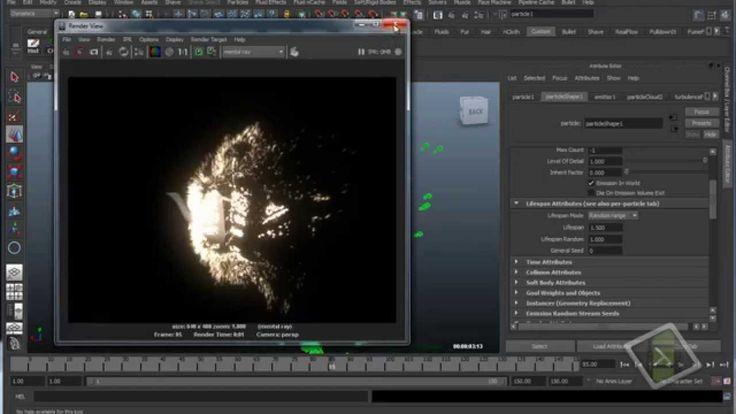 Maya 3D - Particle in Maya (Basic).Part 9 - Object Desintegration
