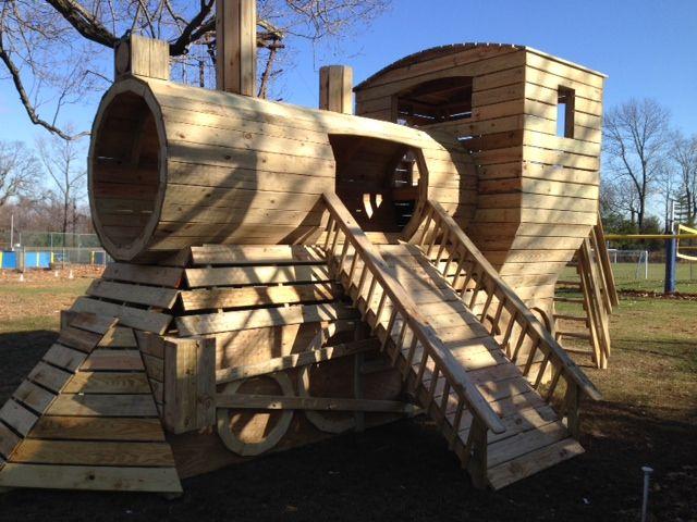Wooden train playhouse plan                              …