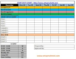 Image Result For Housekeeping Duty Roster Format Chart