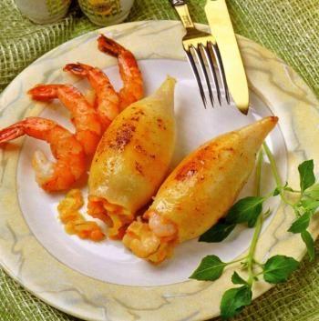 Рецепты кальмары фаршированные