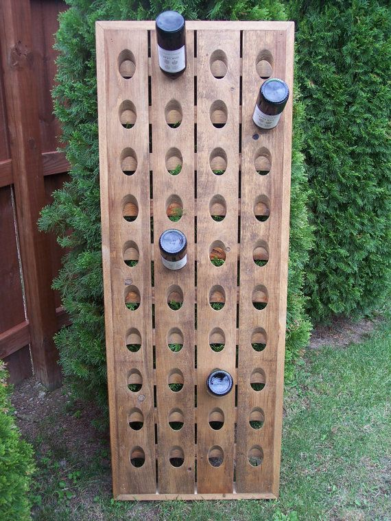 Wine Rack Pottery Barn Style Riddling Rack by CozyCreekWoodworking, $169.00
