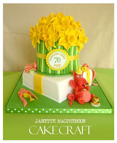 welsh dragon and daffodils cake | Flickr - Photo Sharing!
