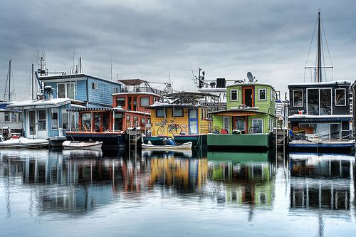 Beautiful Seattle - I went to see someone who had a boathouse here...and I've wanted one ever since!
