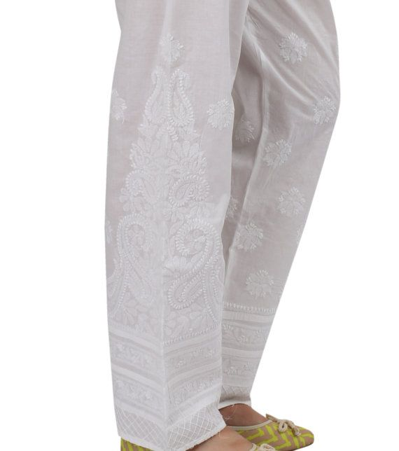 Are you tired of wearing those boring denims and skinny pants and trousers everyday to work,    parties and shopping in this scorching heat? Here is a breather! Introducing pure cotton extremely    comfy chikankari palazzos for you to suit all times of the day. So no matter what the occasion is    simply club the palazzos with a plain coloured matching top / short kurti and your stilettoes and let    your legs breath!    An integral part of Indian culture since 655AD, chikankari has been…