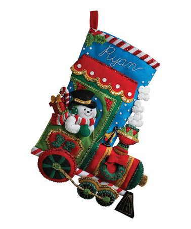 This Candy Express Stocking Embroidery Kit by Bucilla is perfect! #zulilyfinds