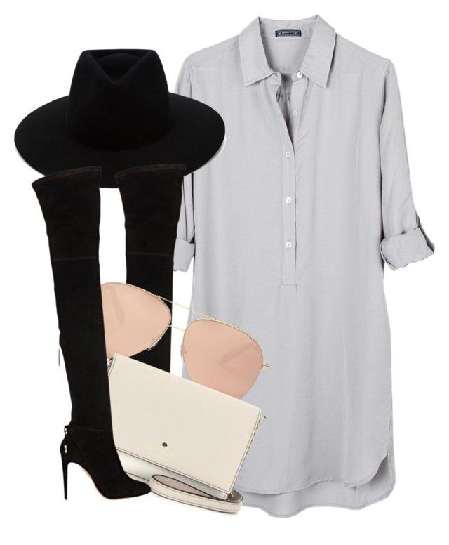 """VB x R&B"" by muddychip-797 ❤ liked on Polyvore featuring United by Blue, rag & bone, Aquazzura, Victoria Beckham, Kate Spade, victoriabeckham, ragandbone and fashionset"