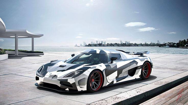 Dazzle Camo Koenigsegg Agera By Millergo Cg Car Wrap
