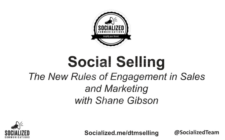 Social Selling and Social CRM presentation - presented on May 23rd at the Microsoft Canada offices in Vancouver.