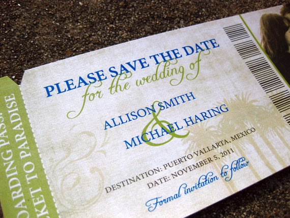 this is such a cute idea for destination weddings.