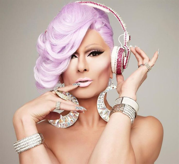 #DJ Kitty Glitter is one of the best international #drag DJ's. She's most loved for her vocal house/remixed pop sets. Her unique style & uplifting energy behind the decks radiates across every dance floor she plays on. #GayWedding
