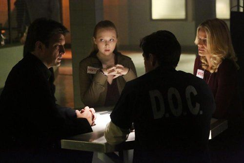 James Carpinello, Joelle Carter, Nathan Fillion, and Molly C. Quinn in Castle (2009)