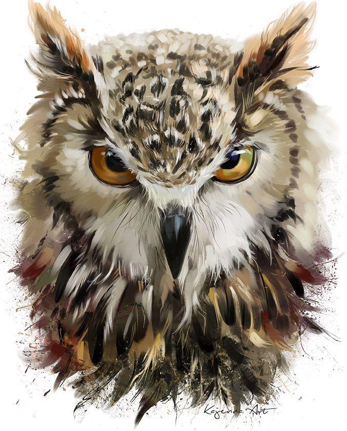 Owl by Kajenna.deviantart.com on @DeviantArt
