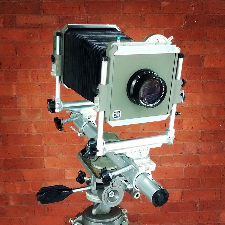 Wollesak 10 Inch (254mm) f/4.5 Raptar Lens LE-2(2) mounted on a Sinar Norma 4x5 inch monorail camera. #SurplusCameraGear #Sinar Norma #Wollensak Optical #Woonsocket #SKGrimes #PortraitLens #Graflex #RBSuperD #LargeFormatCamera #5x7Camera #4x5Camera #ViewCamera #SenicaCamera #FieldCamera #MonorailCamera #GroundGlass #TailboardCamera
