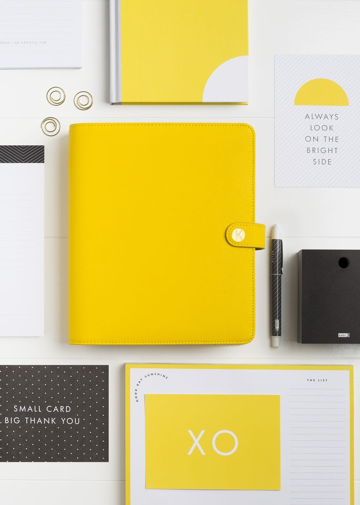 Look on the bright side with this kikki.K Yellow Personal Planner with Minimalist & Hello Yellow Planning Accessories