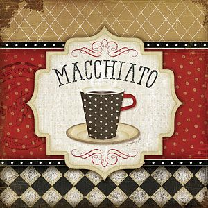 Coffee Painting - Macchiato by Jennifer Pugh