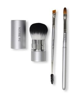 Votre Vu Brush Up! Essential Makeup Tools 3-Piece Set