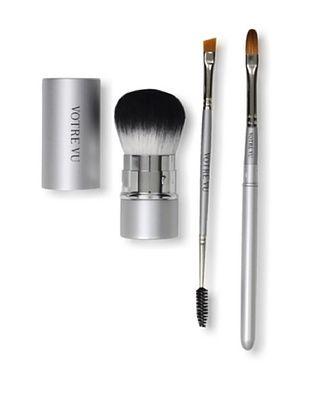 Votre Vu Brush Up! Essential Makeup Tools 3-Piece Set