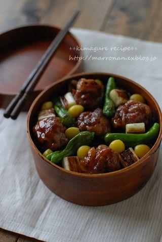 豚肉の甘辛丼弁当 : ごはんの時間 ++annex++