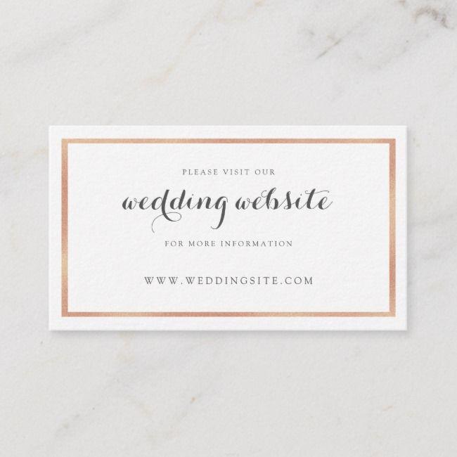 Create Your Own Enclosure Card Zazzle Com Wedding Website Card Modern Wedding Website Wedding Website