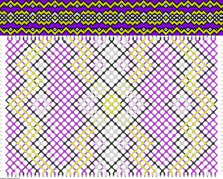 Muster # 87529, Streicher: 54 Zeilen: 34 Farben: 4