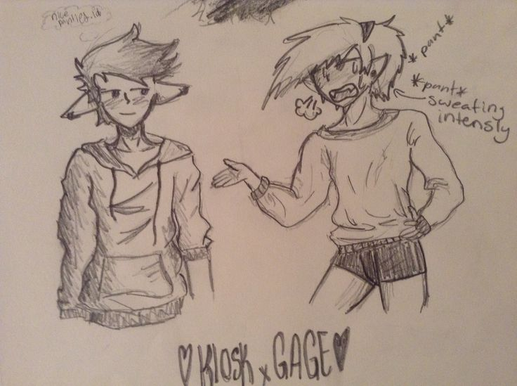 Kiosk x Gage (from my book) Kiosk (right) was running a race with his track team ¥our Senpai