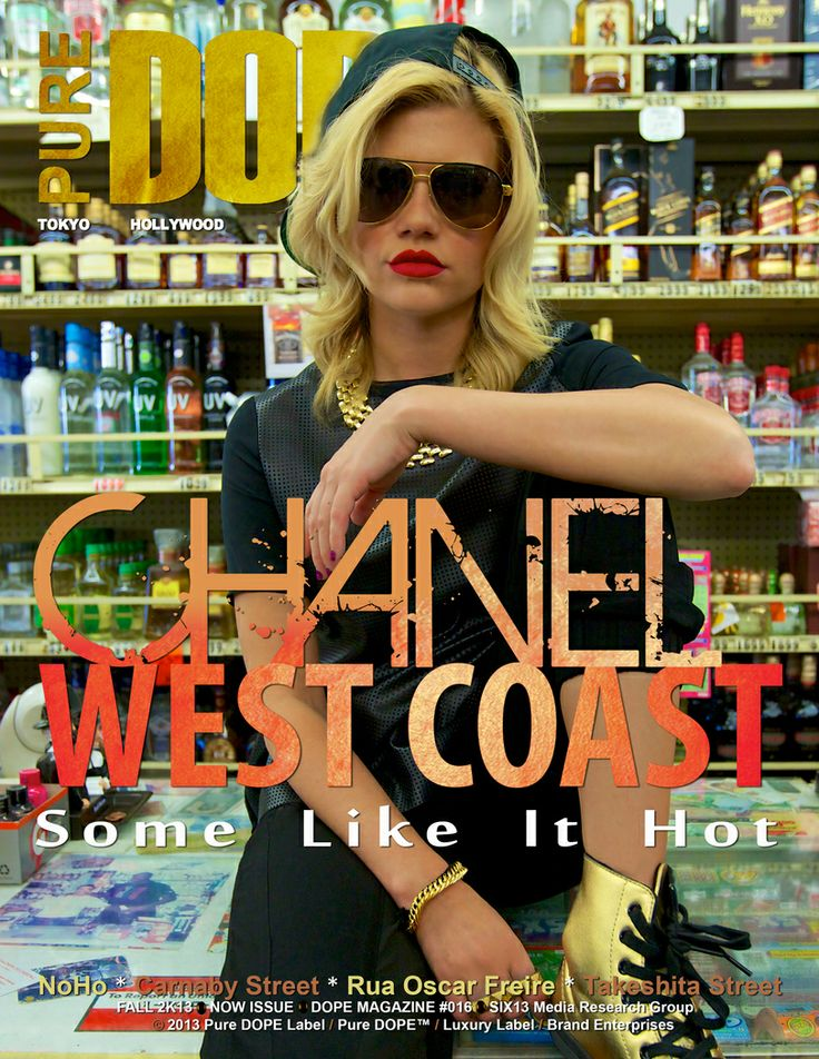 """Young Money (YMCMB) Recording Artist Chanel West Coast Covers Pure DOPE Magazine's Fall 2k13 """"NOW"""" Issue: """"I definitely want to do more inspiring music for my young girl fans. I talk a lot about how much weed I smoke, how much I party, and sometimes I feel guilty about that because I know my little cousins and young fans their age are listening. I definitely want to have more inspirational music on my album that uplifts young girls."""""""