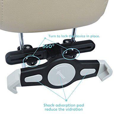 Ipow supporto universale per auto poggiatesta e sedie posteriore per iPad w Tablet 7-11 pollici,con l'aggiunta di supporto del parabrezza per Navi: Amazon.it: Elettronica