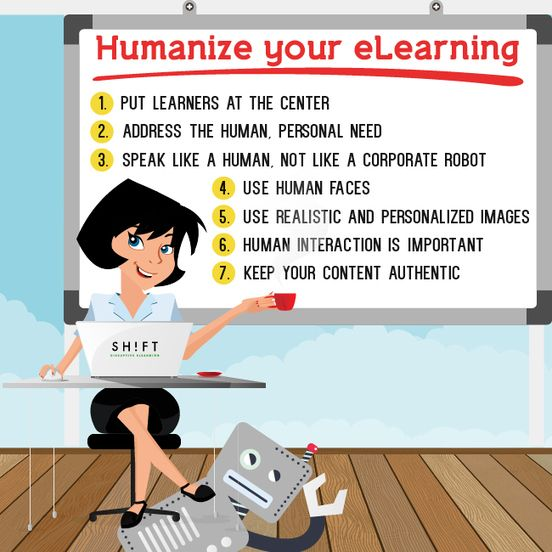 How to Humanize eLearning | Infographic
