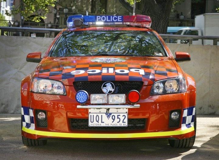 Victoria (VIC) Police GM-Holden Monaro (US Pontiac) patrol & pursuit car.