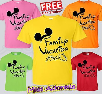 Disney Family Vacation Matching T-Shirts  2016                                                                                                                                                     More