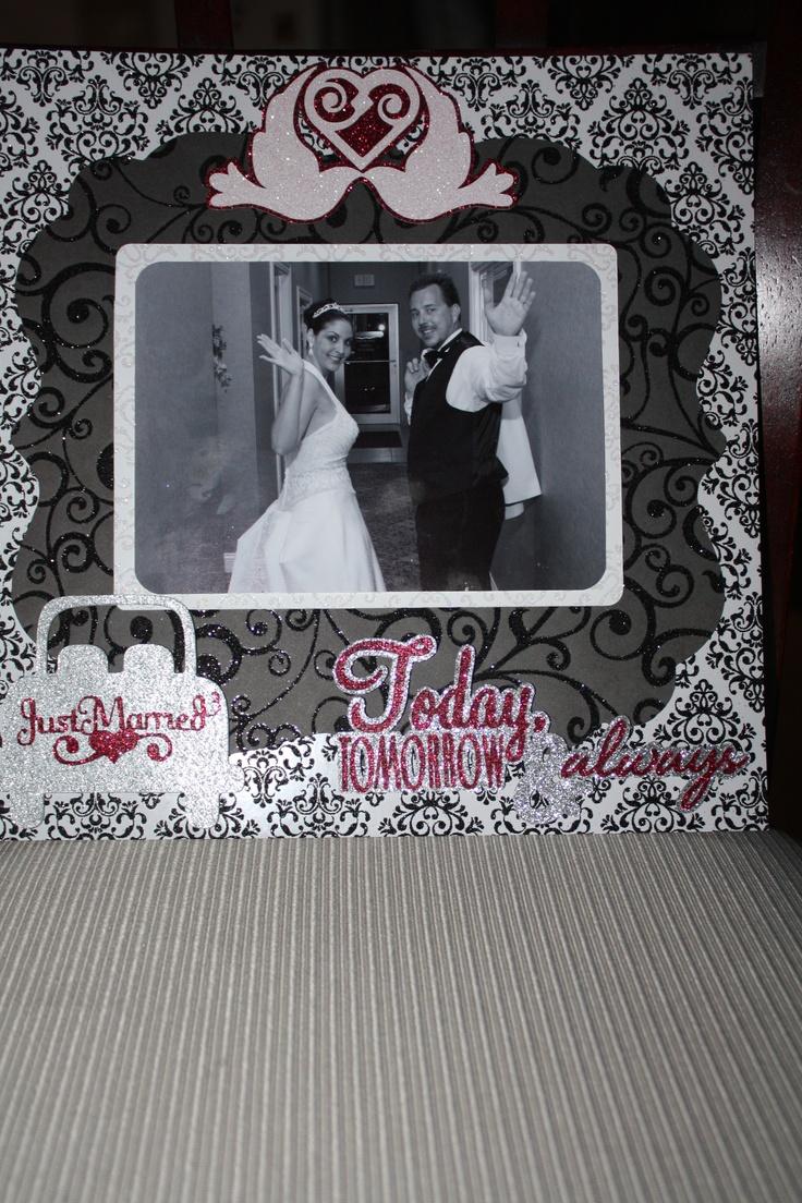 Wedding scrapbook ideas using cricut - Wedding Layout