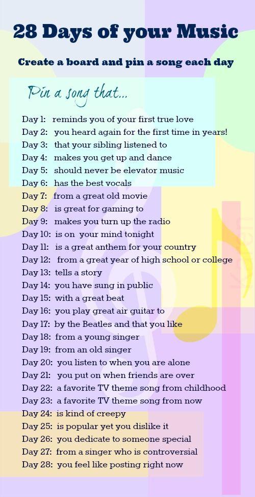 25+ best ideas about Music challenge on Pinterest   Motivational ...