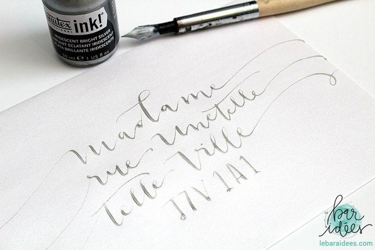 La différence entre le lettrage créatif, la calligraphie et la typographie - Le Bar à Idées - Modern Calligraphy, Handlettering, Brush Lettering, Typography, Ink, Liquitex