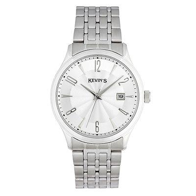 Reloj para Hombre, tablero redondo, silver, index + arabigo, analogo, pulso metalico metalico