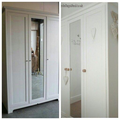 Ikea wardrobe transformation @ The Little Vintage Shed.