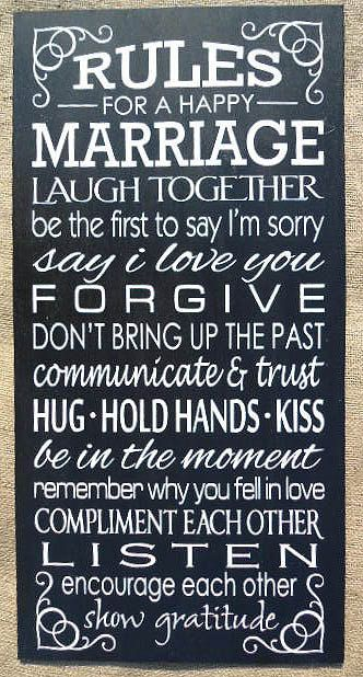 Rules for a Happy Marriage  Hand Painted by SignsfromtheSouth, $36.95