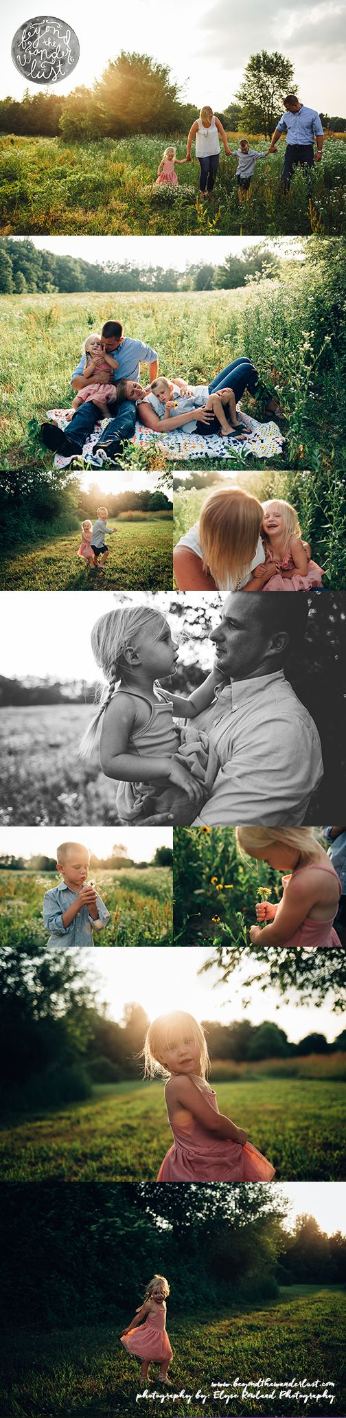 Family of 4 poses, what to wear for family pictures, pictures in fields