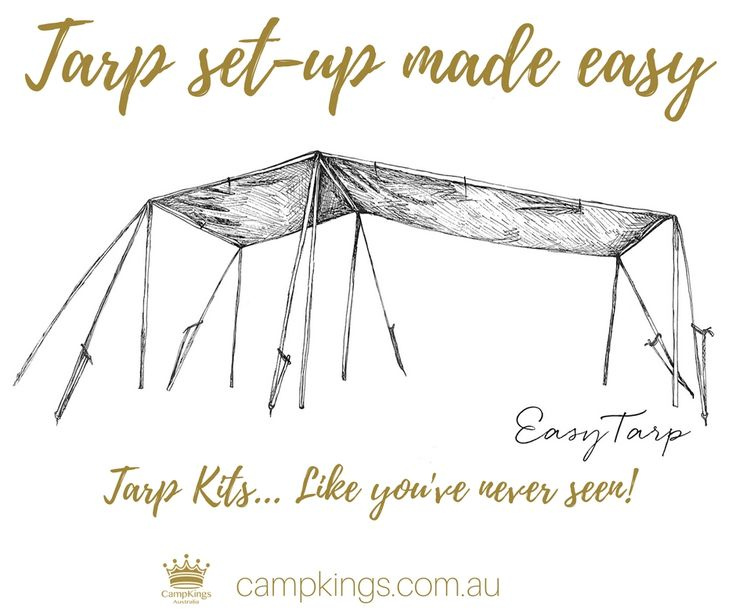 EasyTarp from CampKings Australia - Tarp Kits... Like you've never seen!