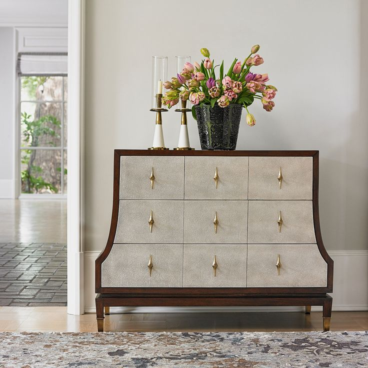 Ambella Home Tapered Chest - Antique Brass