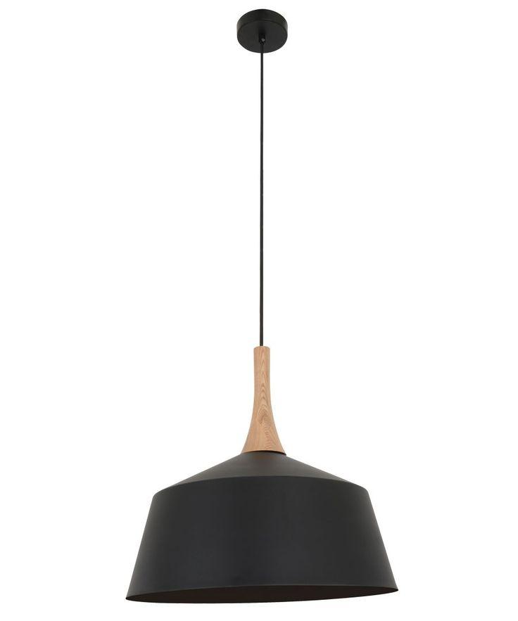 Husk 400mm Pendant in Matt Black/Ash | Modern Pendants | Pendant Lights | Lighting