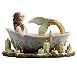 "mermaidhomedecor - 8.5"" Mermaid Bath Time Figurine  $85.00"