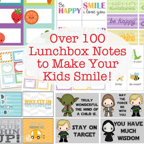 Over 100 Lunchbox Notes to Make Your Kids Smile! #howdoesshe #backtoschool howdoesshe.com