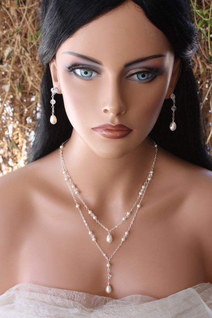 FONDO perla collana doppia elica Design di LalleBridalJewelry