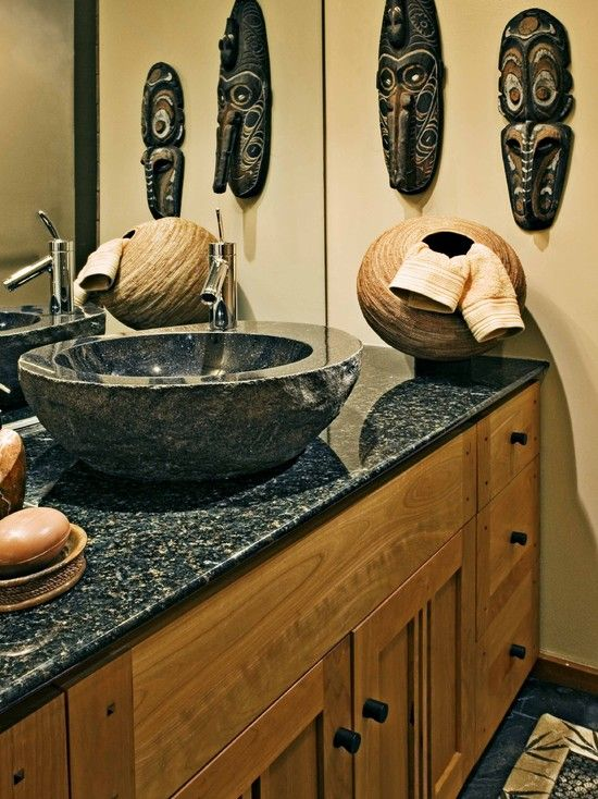 Bathroom African Safari Decor Design, Pictures, Remodel, Decor and Ideas